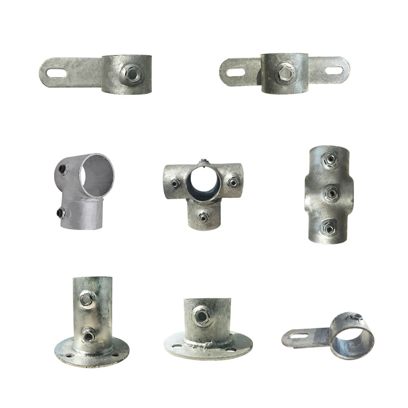 Work Site Standardization Accessories Angle T-connector Pro Border Connecting Parts For Guard Bar Foundation Pit Protection Stai