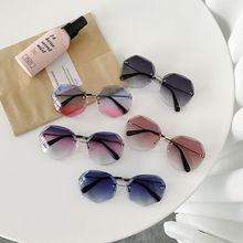 Newest Cool Polygon Shaped Hexagon Fashion Women's Ocean Sheet UV Protection Eyewear Sun Glasses UV400