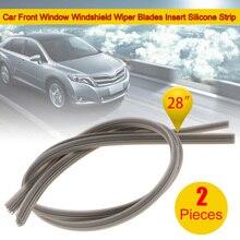2 шт Безопасный стеклоочиститель на лобовое стекло автомобиля, лопасти стеклоочистителя головного стекла вставка Силиконовая полоска 6 мм ...