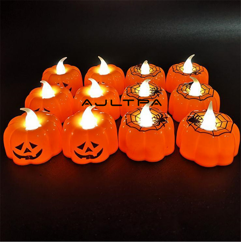120Pcs LED Pumpkin Lamp Halloween DIY Decoration Lights Festival Decoration For Home Party Accesoires