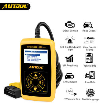 AUTOOL CS320 car OBD 2 Code Reader CAN BUS with Digital  LED Dispaly  OBD2 Scanner Automotive Diagnostic Tool op com opcom v1 99 with real pic18f458 ftdi op com obd2 auto diagnostic tool for opel gm opcom can bus v1 7 can be flash update