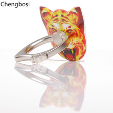 Tiger Universal Finger Ring Holder Plating Extending Stand Mobile Phone for IPhone X MAX XR 8 7 Samsung