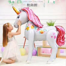 YHZNXH Explosion models Unicorn Balloons Aluminum Birthday Party Decoration Cartoon Animal Wholesale Customiza