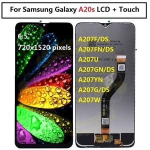 Image 2 - Voor Samsung Galaxy A20s Lcd Digitizer Scherm Touch Screen Voor Samsung A207F/Ds A207FN A207U A207W A207G/Ds lcd Met Frame
