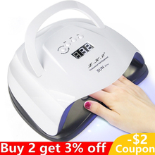 Professional Nail Lamp 72W Dryer for Salon Manicure Pedicure All Gel Polish with 4 Timer Led Displa LED UV
