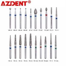 Fresas de diamante Dental de alta velocidad, herramientas de odontología, blanqueamiento Dental, laboratorio Dental, 100 Uds./20 cajas