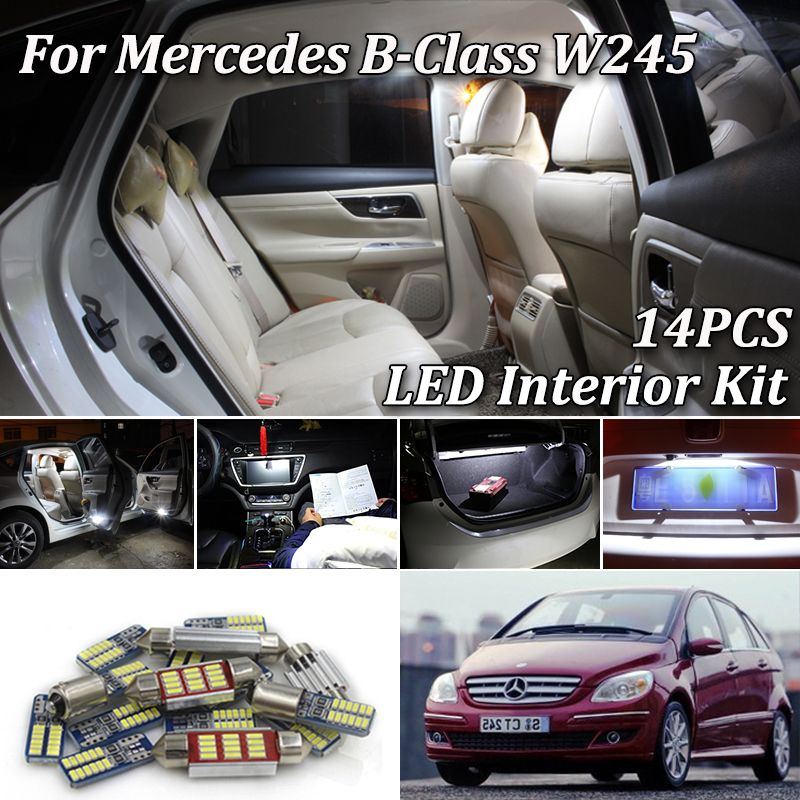 Fits Mercedes B-Class W245 B 150 White 6-SMD LED 39mm Festoon Number Plate Bulb