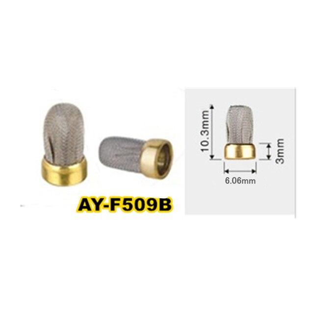 Gratis Verzending 10 Stuks Brandstof Injector Metalen Micro Filter 10.3*6.06*3 Mm Voor Bosch Unviersal Brandstofinjector reparatie Kits (AY F509B)