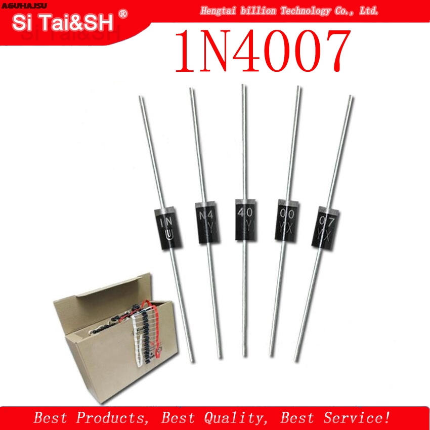 100PCS 1N4007 DO-41 <font><b>4007</b></font> 1A 1000V High quality Rectifier Diode IN4007 New original image