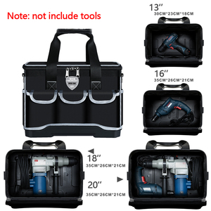 """Image 2 - أكياس أداة متعددة المهام حجم 13 """"16"""" 18 """"20"""" أكسفورد حقيبة ملابس أعلى واسعة الفم كهربائي مجموعة أدوات خاصة أكياس مجموعة أدوات مقاوم للماء"""