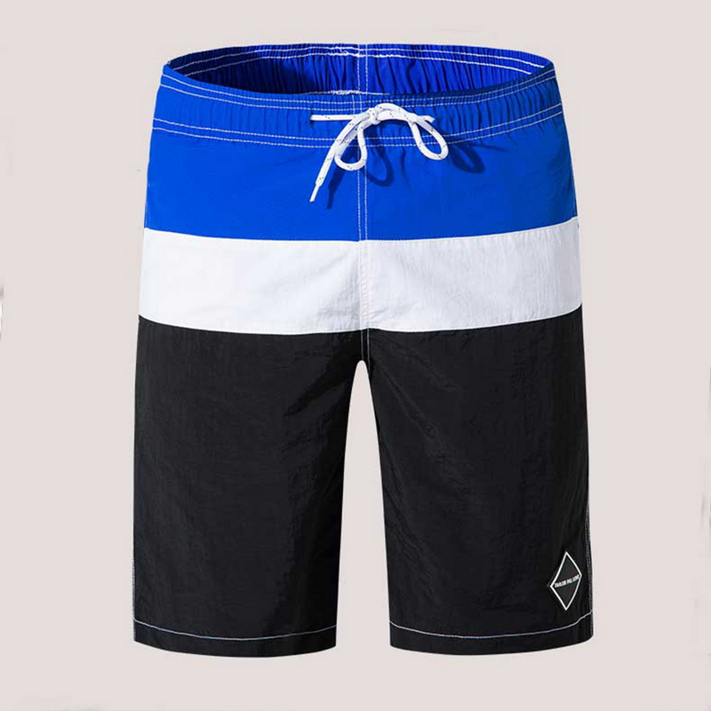 Men's Shorts Drawstring Beachwear Cool Board Splice Shorts Quick Dry Watersport Trunks Summer Beach Shorts 2020