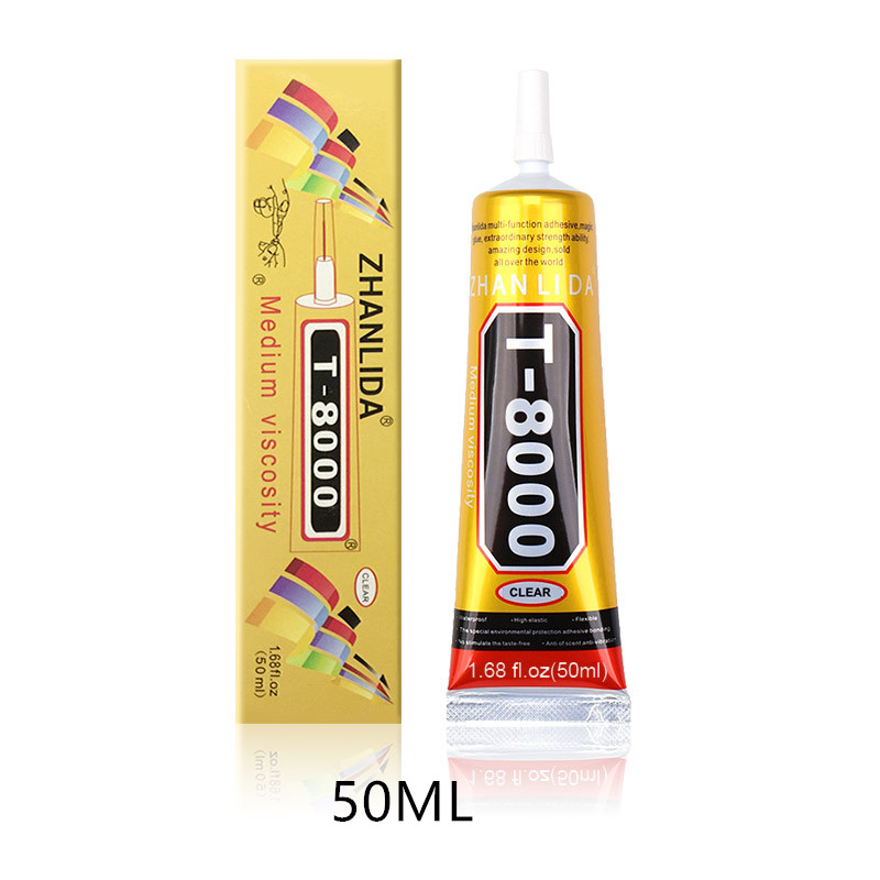 50ml MultiPurpose T-8000 Industrial Adhesive Jewerly Craft Rhinestone And Nail Gel <font><b>T8000</b></font> Diy Phone Frame Fix Screen Glass Glue image