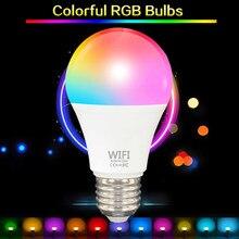 22led inteligente lâmpada de controle de voz luz noturna wake-up luzes regulável lâmpada de temporização com vida inteligente app/alexa/casa do google