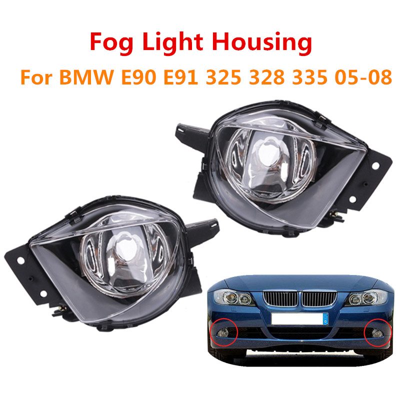 Left Right <font><b>Front</b></font> Bumper DRL Fog <font><b>Light</b></font> Car Fog Lamp Assembly For <font><b>BMW</b></font> <font><b>E90</b></font> E91 328i 328xi 325i 325xi 330i 330xi 2005 2006 2007 2008 image
