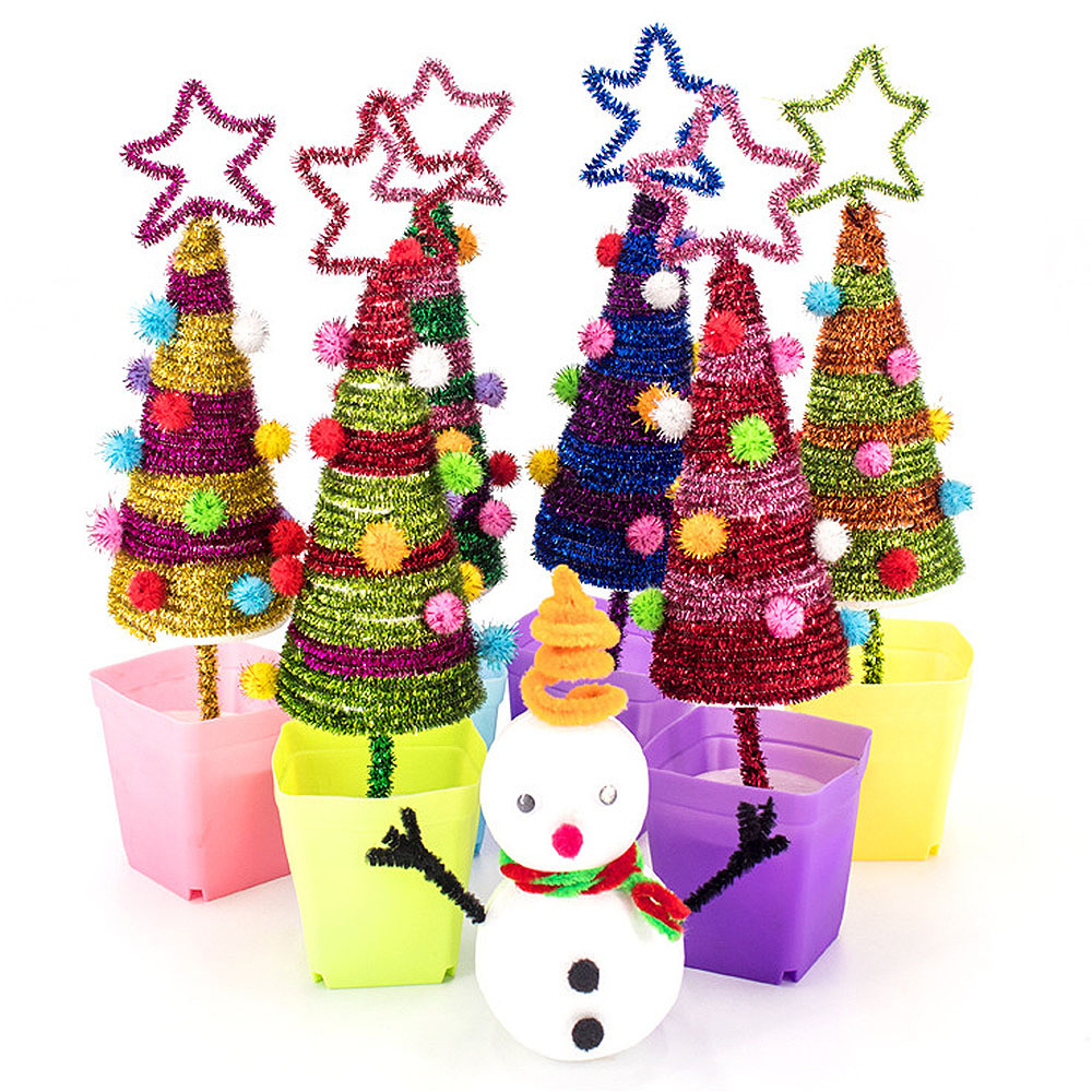 New Beads Toys Of Creative Christmas-Tree DIY Mini Trees And Snowman Desktop Small XmaxTree Christmas Party Supplies Kids Gifts