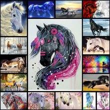 Amtmbs животное цвет лошадь diy Краска по номерам на холсте
