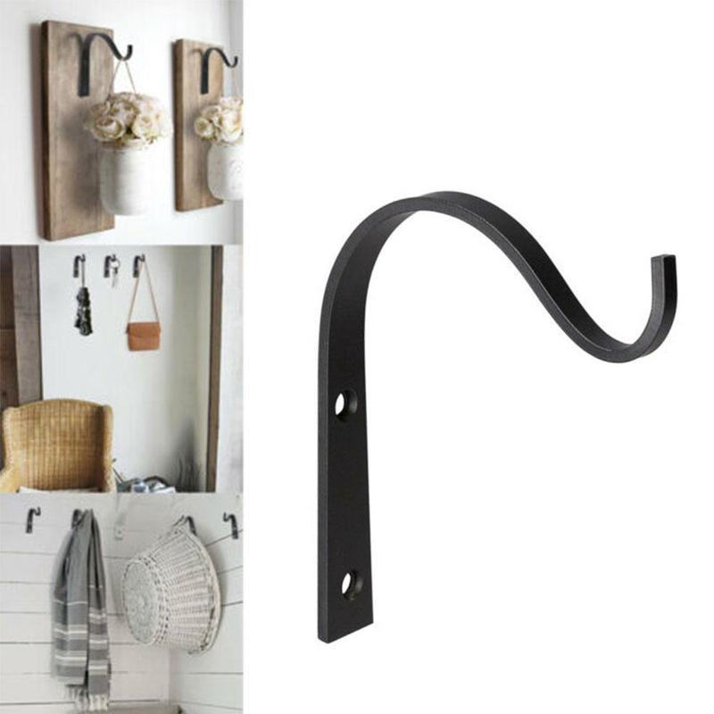 2 Pcs Metal Wall Hooks J-hook Storage Hook Vintage Wall Hanger Screw Hooks For Room Cloth Towel Rack Coat Hat Holder Wall Hook