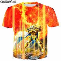 Camiseta clásica de Saint Seiya para hombres y mujeres, camisas con estampado 3D, estilo Harajuku, ropa de calle, novedad
