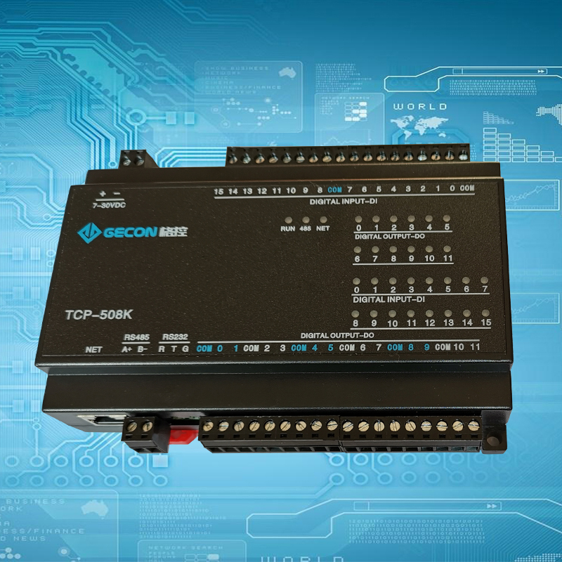 12-channel Relay Output 16-channel Digital Input RJ45 Ethernet Modbus TCP Controller