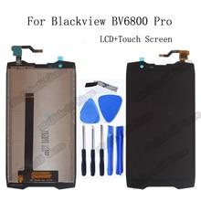 5.7 inç Blackview BV6800 Pro LCD ekran + dokunmatik ekranlı sayısallaştırıcı grup için yedek parça Blackview BV 6800 Pro tamir kiti