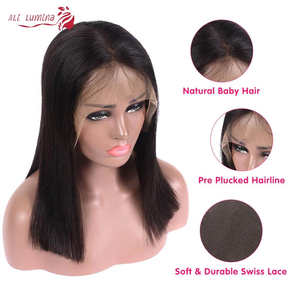 Straight Hair 13x4 Lace Frontal Wig Ali Lumina 3