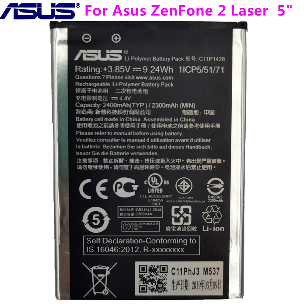 <font><b>ASUS</b></font> Original Replacement Phone <font><b>Battery</b></font> C11P1428 2400mAh <font><b>for</b></font> <font><b>Asus</b></font> <font><b>ZenFone</b></font> <font><b>2</b></font> <font><b>Laser</b></font> <font><b>ZE500KL</b></font> ZE500KG Z00ED 5