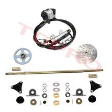 740 Mm Go Kart Belakang Axle Assembly Rem Roda Kit Master Hub Disc Rotor T8F Rantai Sproket untuk Mini Anak ATV Quad Drift Trike Kereta(China)
