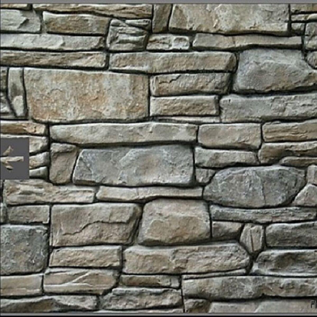Stone Decorative Concrete Mold Cement Reusable Brick Mold Imprint Texture Stamp Mat Rubber Molds Garden House Decor Texture Wall