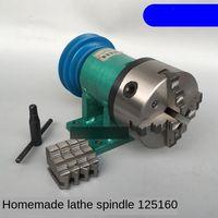 Drehmaschine spindel montage mit flansch verbindung platte übergang platte 80/125/160/200 spindel drei kiefer vier backenfutter-in Werkzeugmaschinenspindel aus Werkzeug bei