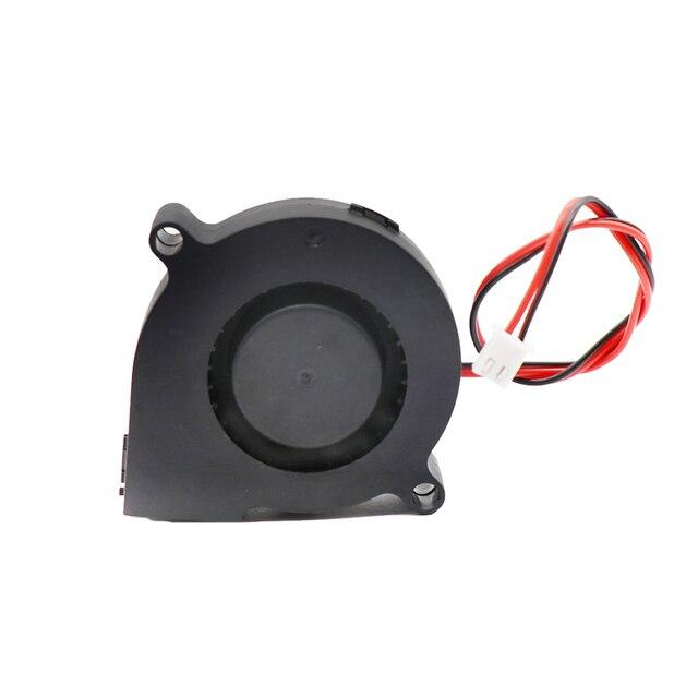 1pc części drukarki 3D 5015 wentylator dmuchawa 12V 24V 0.1A Turbo wentylator 5cm 50x50x15mm 5015 czarne plastikowe wentylatory do wytłaczarki