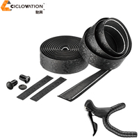 Ciclovation Premium Bar Tape With Leather Touch Black Diamond Road Bike Bicycle Handlebar Tape PU with Organic Gel padded|Handlebar Tape|Sports & Entertainment -