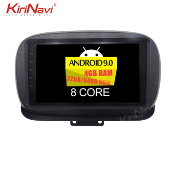 "Kirinavi Android 9.0 4+64GB 8 core 9"" multimedia car dvd player for Fiat 500X automotivo head unit auto radio navigation GPS"