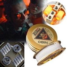 Пиратская катушка модные аксессуары Ni80 нагревательный провод пират 3 ядра Клэптон необычный нагревательный провод для электронной сигареты 3 м 40GA+ 3*28