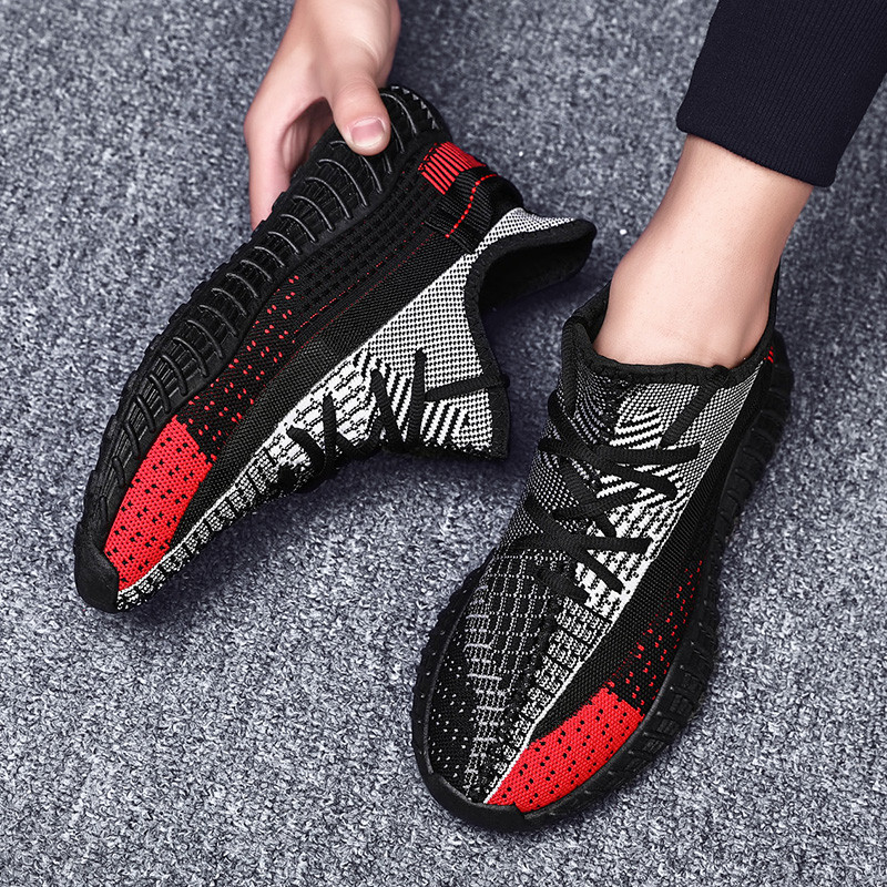 Shoes Men Sneakers Summer Trainers Breathable Board Sports Sports Hollow Out Flyknit Running Shoes Jogging Sneakers Mixed Colors