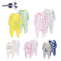 Baby Girls Romper 2pcs Newborn Sleepsuit Flower Baby Rompers 2019 Infant Baby Clothes Long Sleeve Newborn Jumpsuits Baby Pajamas
