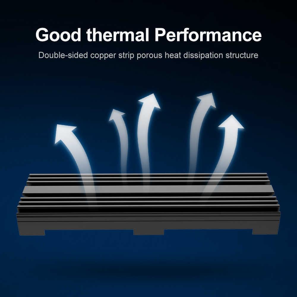 Rocketek M.2 de estado sólido Disco Duro disipador de calor de refrigeración del radiador del Therma Almohadillas más fresco para M2 NVME SATA NGFF 2280 PCIE SSD