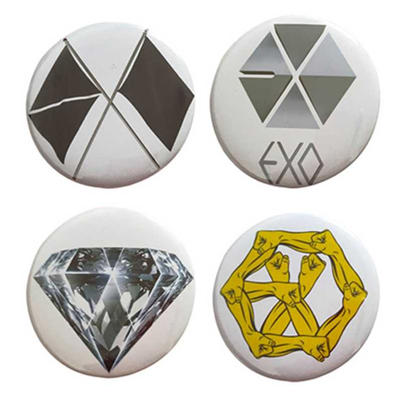 Kpop EXO 6th Album OBSESSION Badge Broche Alle Logos BAEKHYUN XIUMIIN SUHO KAI Pins Broches Tas Accessoires