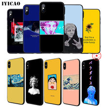 IYICAO Great Art Aesthetic Soft Phone Case for iPhone 11 Pro XR X XS Max 6 6S 7 8 Plus 5 5S SE Silicone TPU