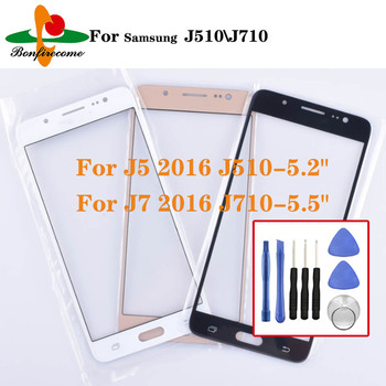 For Samsung Galaxy J5 2016 J510 J510F J510FN Front Touch screen Panel LCD Out Glass Cover Lens For Galaxy J7 2016 J710 J710F image