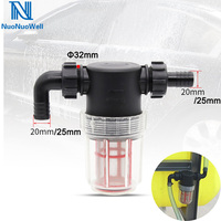 NuoNuoWell 20/25mm Hose Connector Visible Water Pump Filter Large Flow Irrigation Agricultural Spraying Washing Machine Fitting