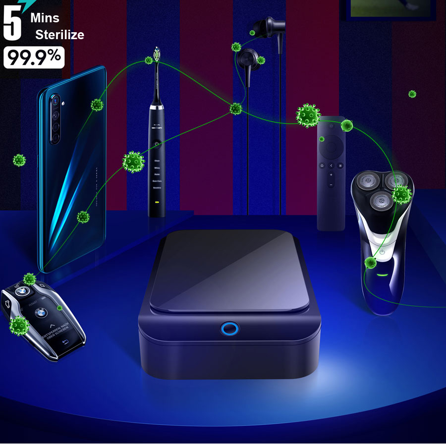 New Ultraviolet Sterilization Box For Mobile Computer Computer Shaver Nail Tool Watch Antivirus
