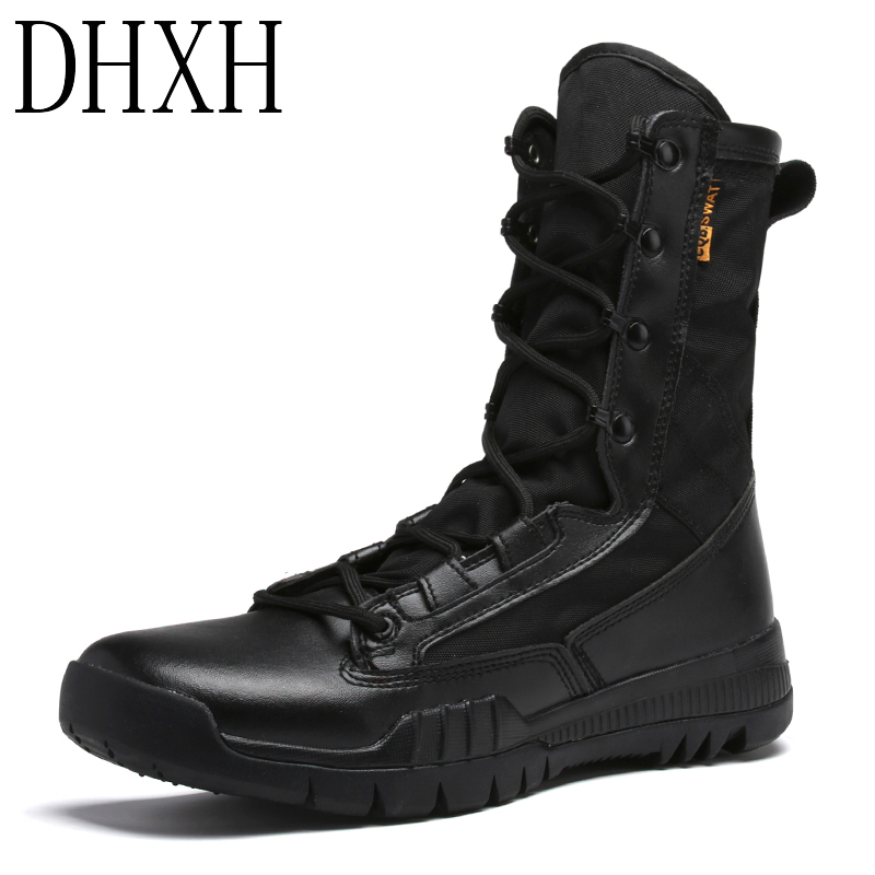 DHXH Autumn And Winter Men's Shoes Military Police Boots Special Forces Boots CS Field Martin Boots Snow Boots Lace-up