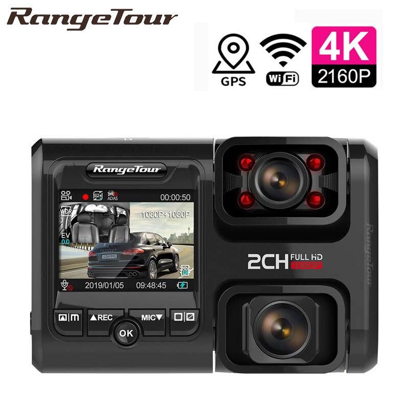 Car DVR Camcorder Sensor Gps Logger Dash-Cam WIFI Dual-Lens Sony Night-Vision 4k 2160p