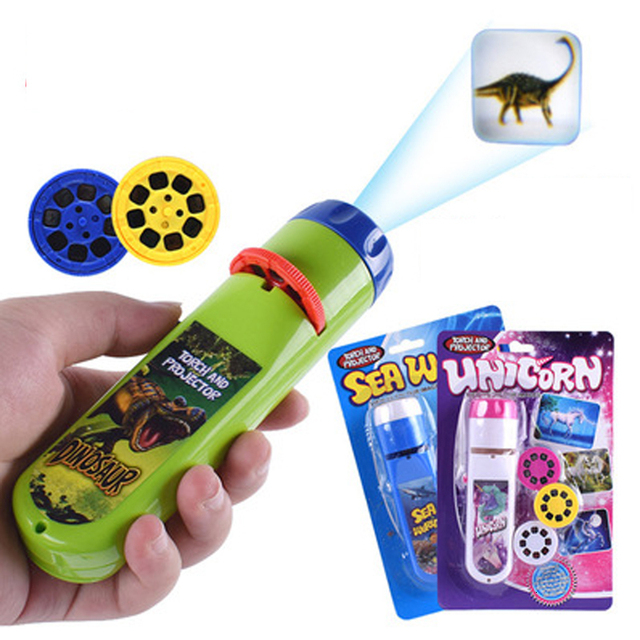 Projection Flashlight Children Projector Light Cute Cartoon Toy Night Photo Picture Light Bedtime Learning Fun Toys 1