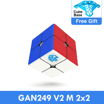 GAN249 V2 M 2x2x2 puzzle cube 2x2 Speed Magic Cube Puzzle V2 M Magnetic Professional cubo magico Twist Educational Toys for Kids 1