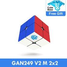 Gan249 v2 m 2x2x2 cubo de quebra-cabeça 2x2 velocidade cubo mágico quebra-cabeça v2 m magnético profissional cubo mágico torção brinquedos educativos para crianças