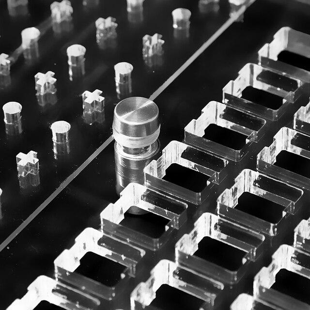 Przełączniki Tester do klawiatury mechanicznej Cherry Kailh 28/35 przełączniki Lube Modding Station etui DIY platforma do usuwania