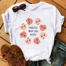 Женские милые футболки с коротким рукавом маленькая свежая Повседневная