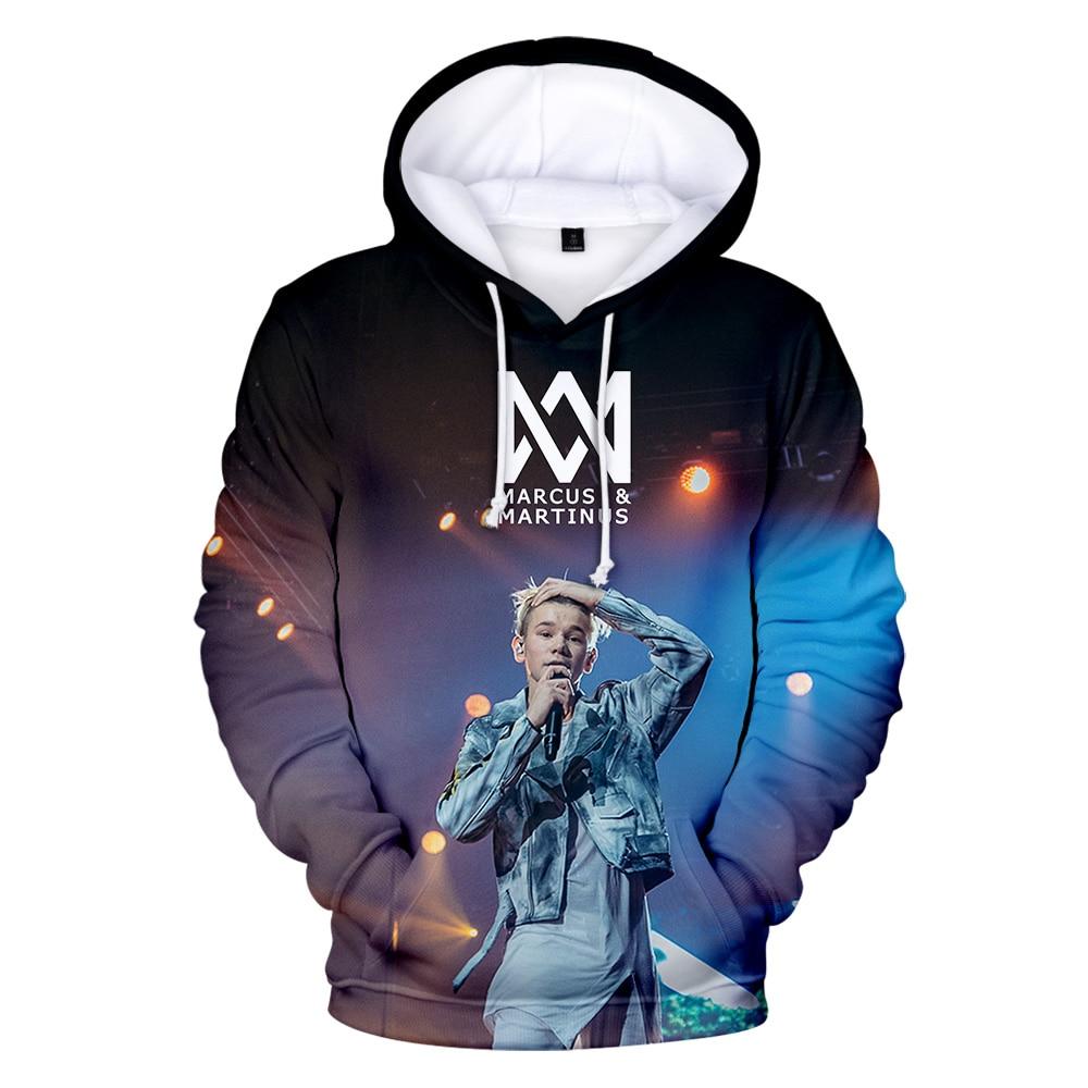 2020 New MARCUS&MARTINUS 3D Hoodies Sweatshirts Unisex Hip Hop Fashion Hooded Kpop Apparel Streetwear Boys Loose Pullovers Coat
