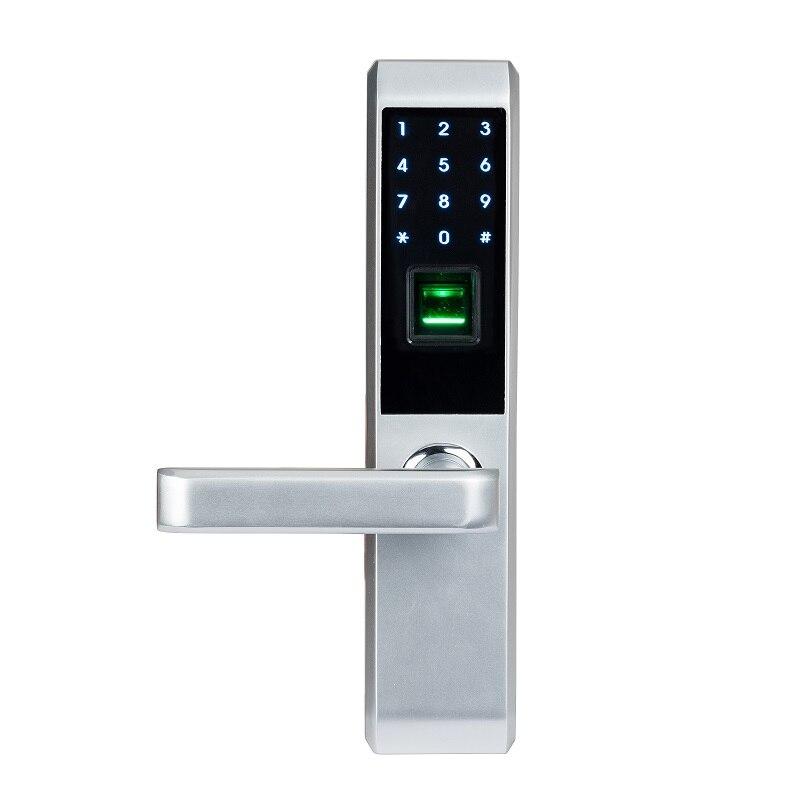 LACHCO 2019 biométrique d'empreintes digitales électronique serrure de porte intelligente, Code, carte, écran tactile numérique mot de passe serrure clé pour la maison lk18A3F - 2